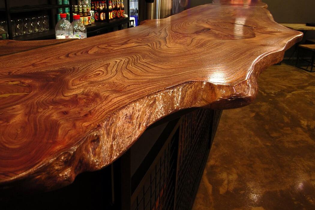 столешница из дерева барная