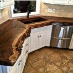 столешница из дерева для кухни дизайн