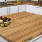 столешница из дерева для кухни дизайн фото