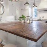 столешница из дерева для кухни фото дизайн