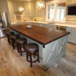 столешница из дерева для кухни фото дизайна