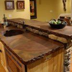 столешница из дерева для кухни декор фото