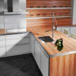 столешница из дерева для кухни идеи интерьер