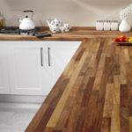 столешница из дерева для кухни фото оформление