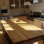столешница из дерева для кухни идеи оформления
