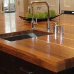 столешница из дерева для кухни фото вариантов