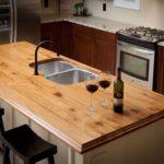 столешница из дерева для кухни фото