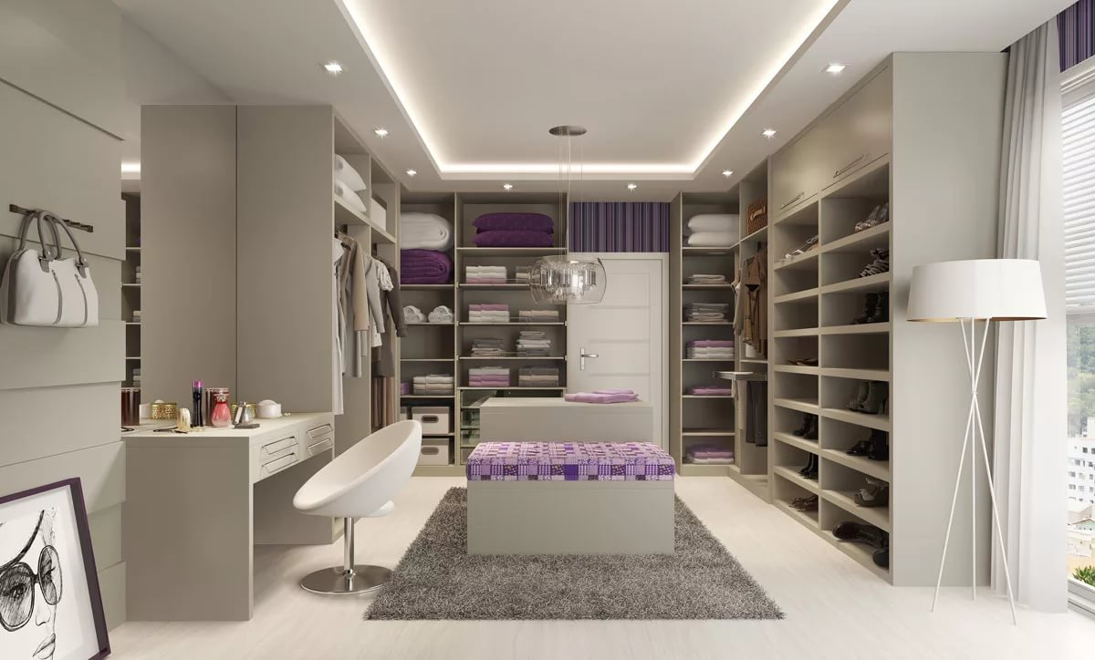 варианты гардеробной в спальне идеи дизайна