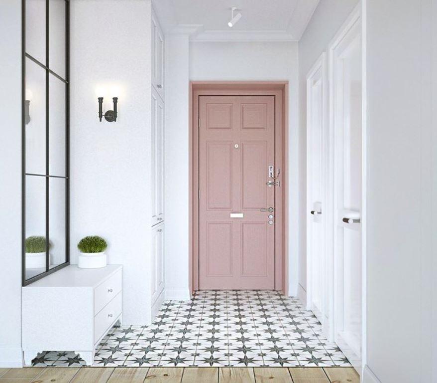 входная дверь в квартиру с пвх отделкой