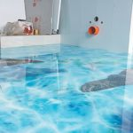 наливные 3д полы в ванной