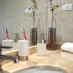 аксессуары для ванной комнаты оформление