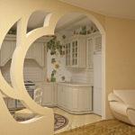 арка из гипсокартона оформление фото