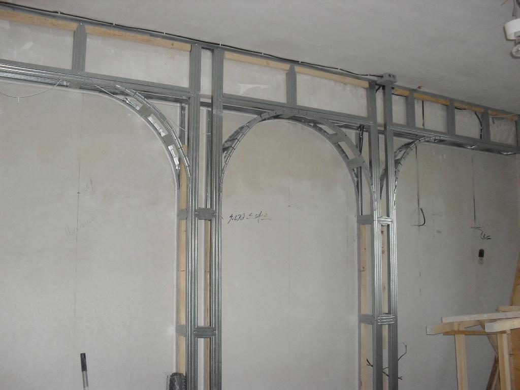 арка из гипсокартона металлический каркас