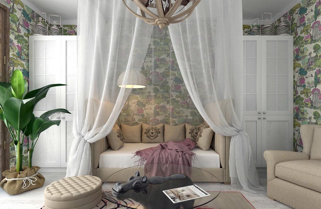 балдахин над диваном