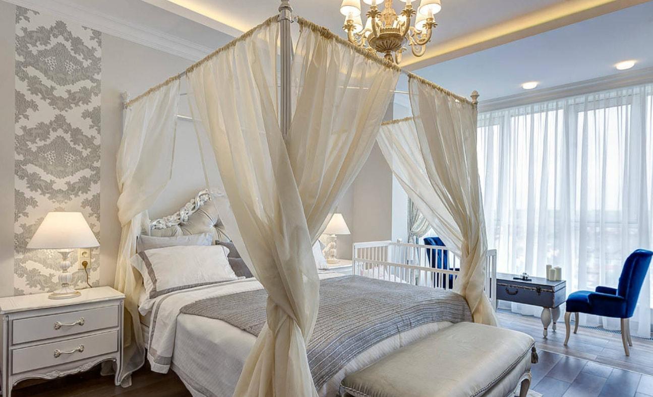 балдахин над кроватью дизайн идеи