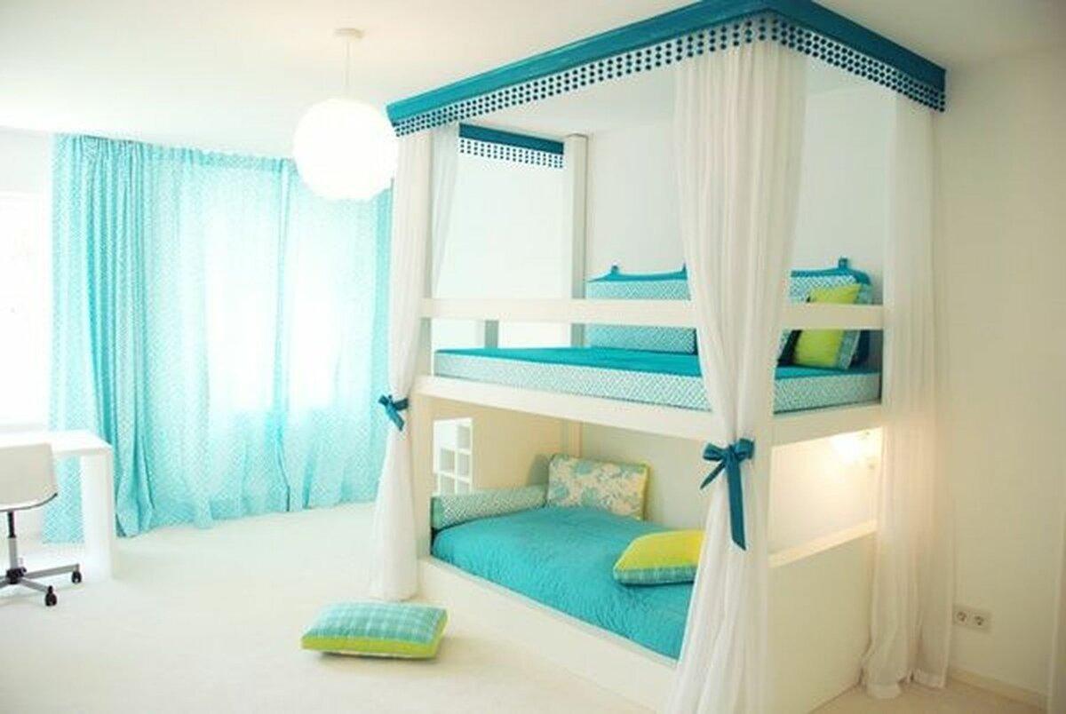 балдахин над кроватью двухъярусной