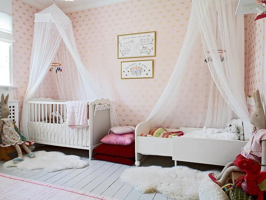 балдахин над кроватью в детской