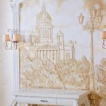 барельеф на стенах декор
