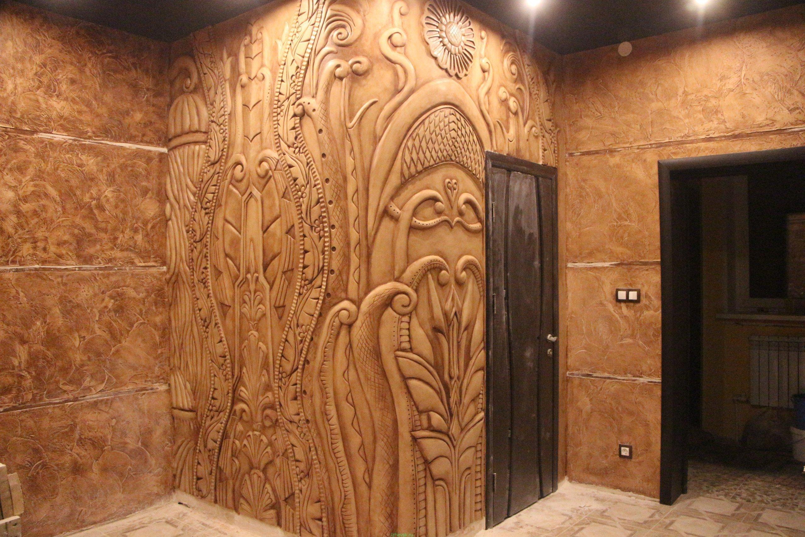 барельеф на стену глина