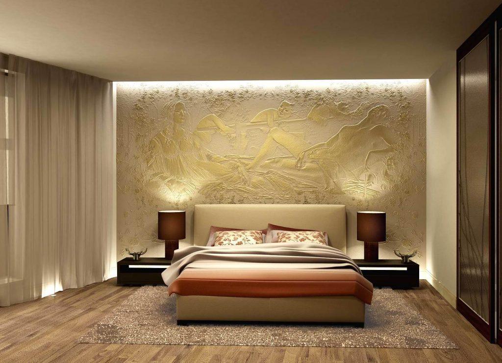 барельеф на стену в спальне