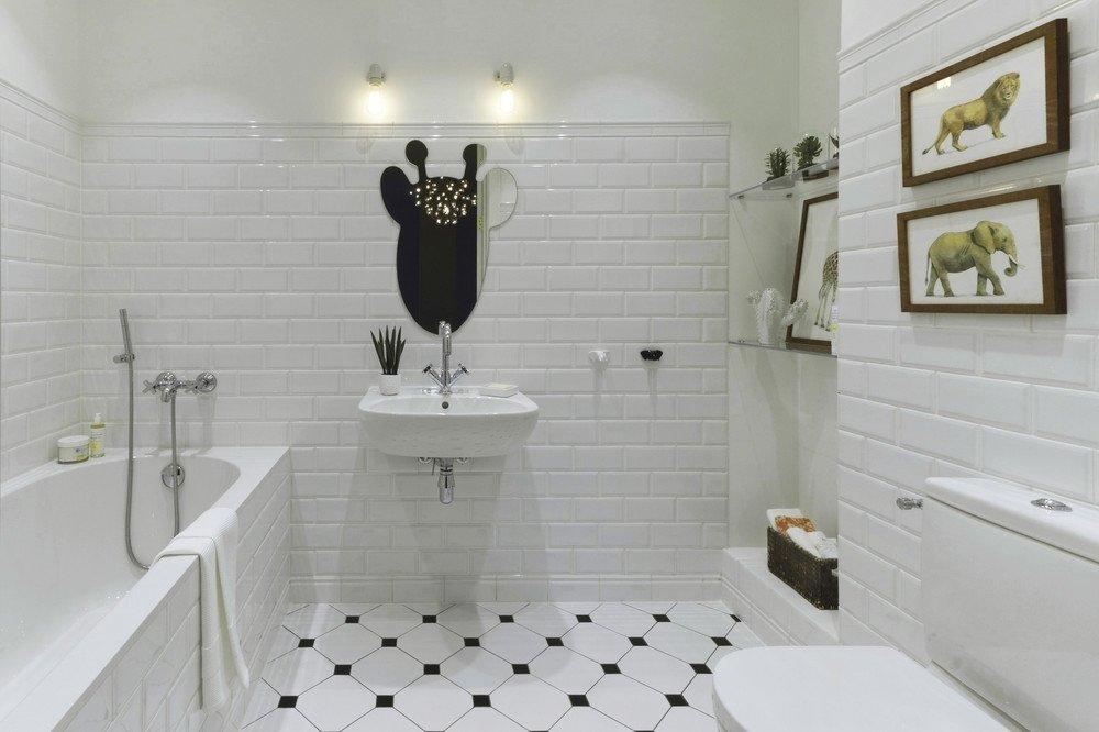 белая ванная комната аксессуары