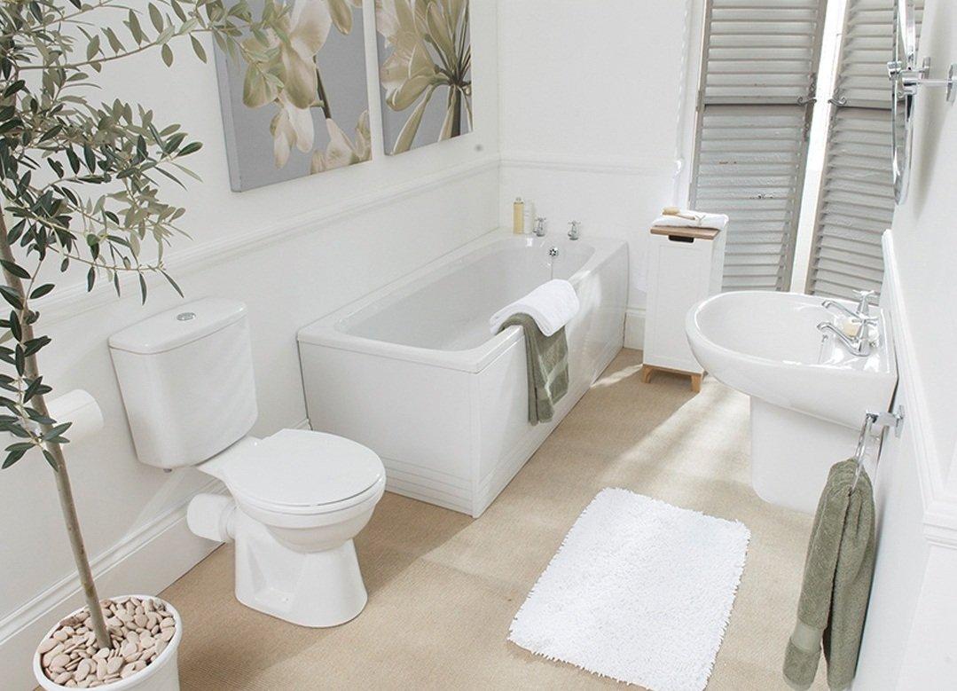белая ванная комната декор