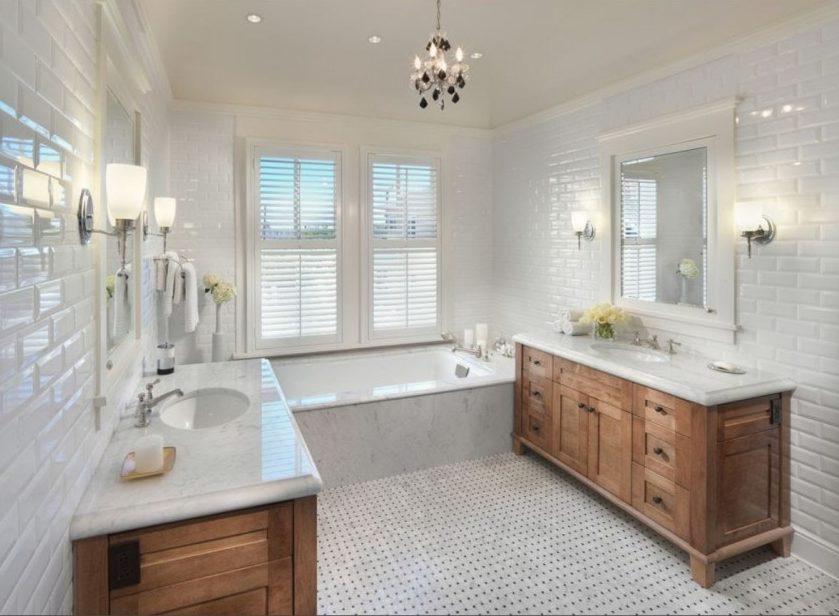 белая ванная комната фото идеи