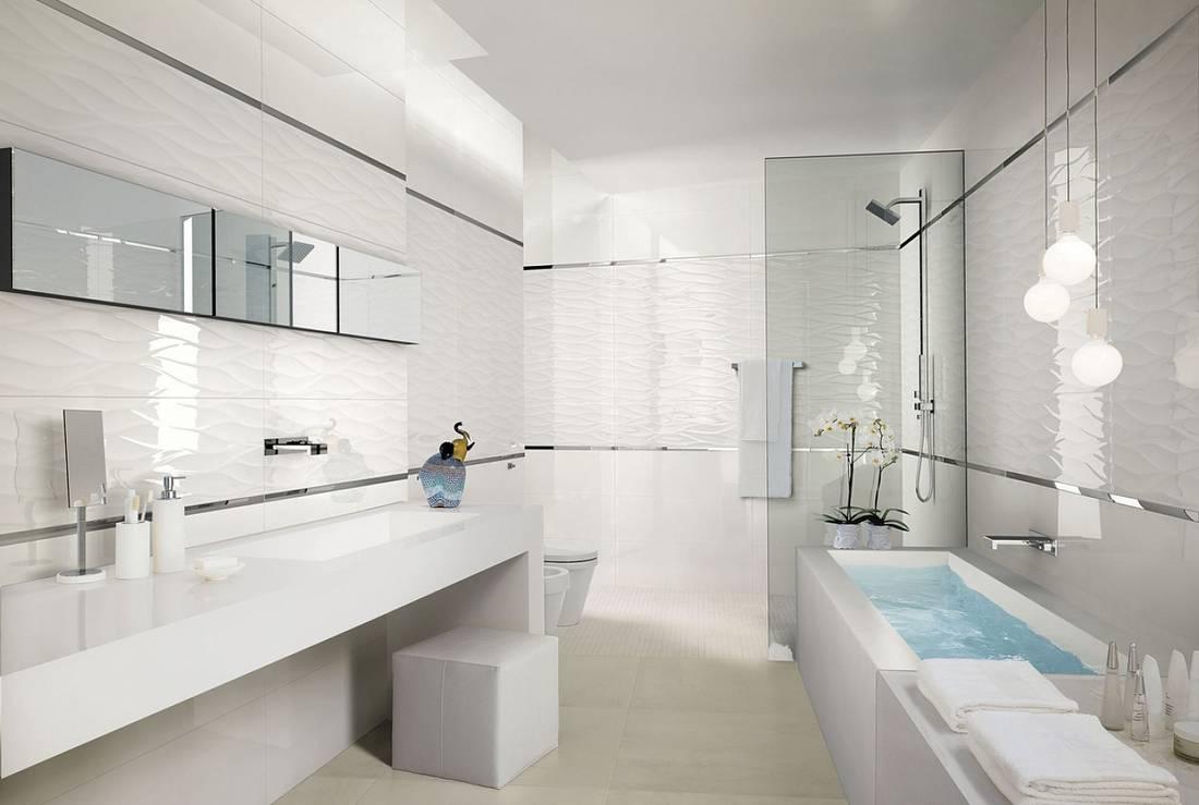 белая ванная комната фото