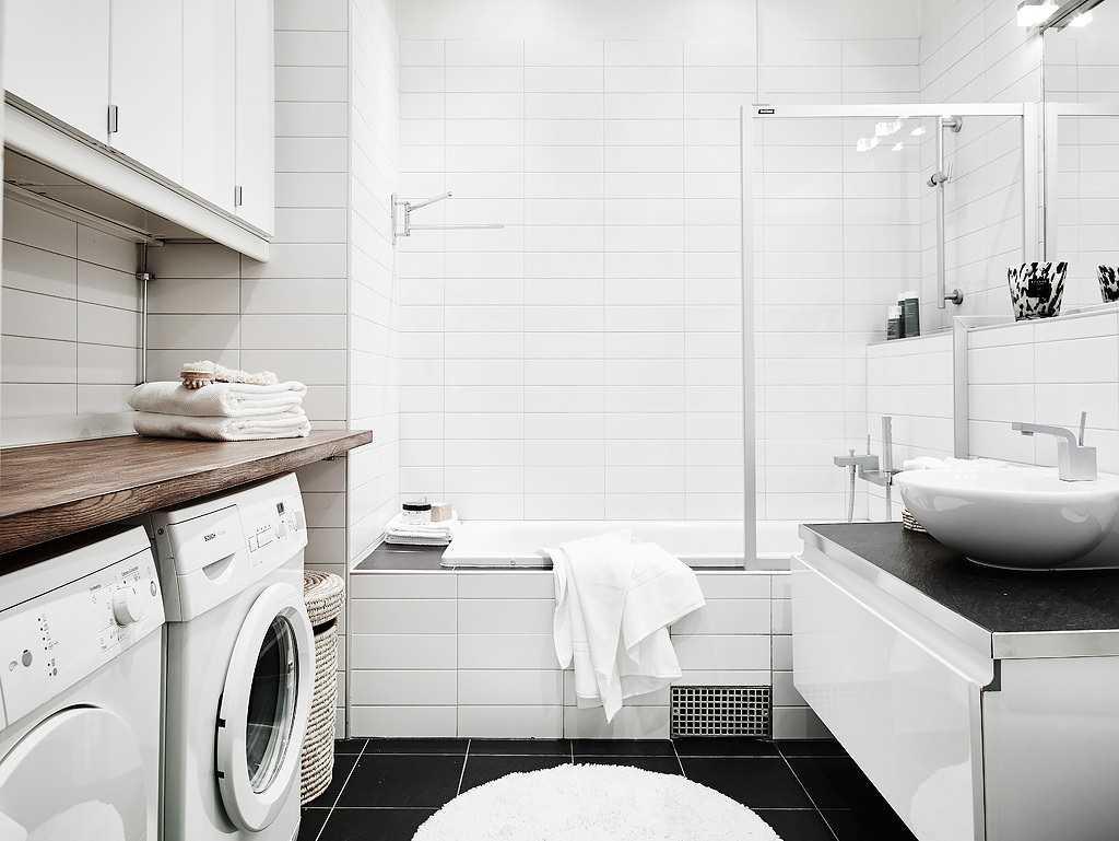 белая ванная комната идеи фото