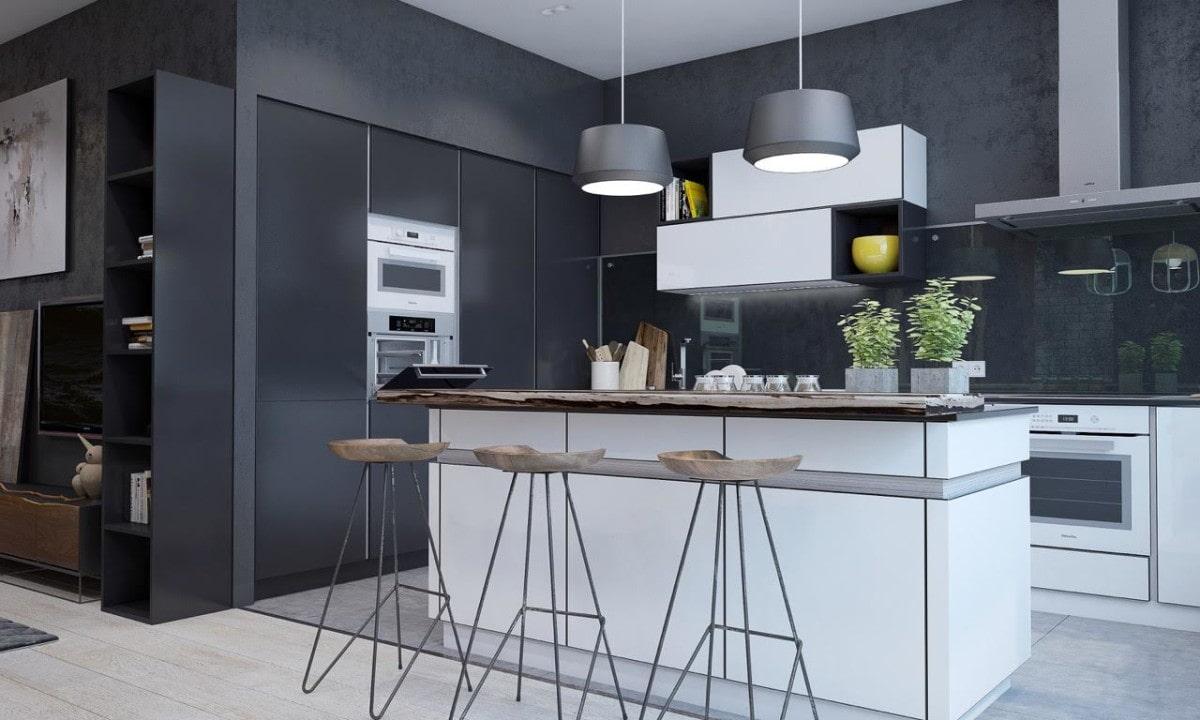 цвет стен на кухне в стиле хай тек