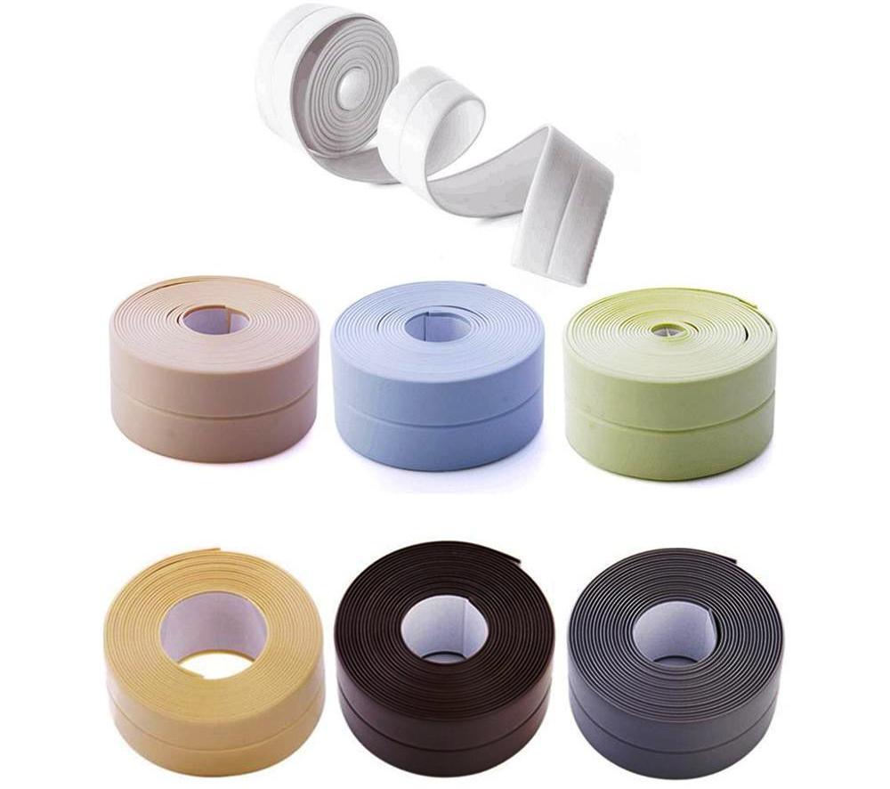 цветная бордюрная лента для ванной вид