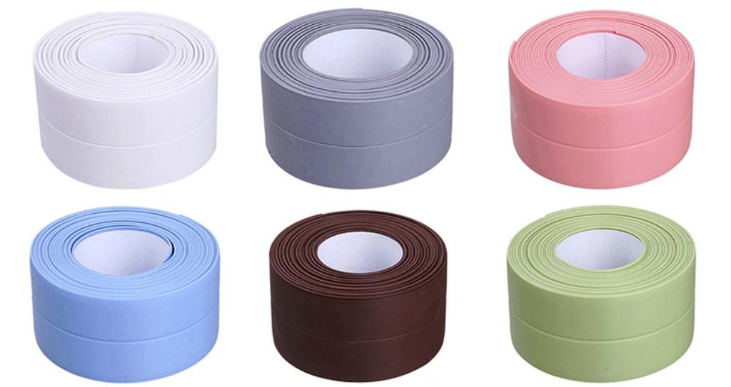 цветная бордюрная лента для ванной