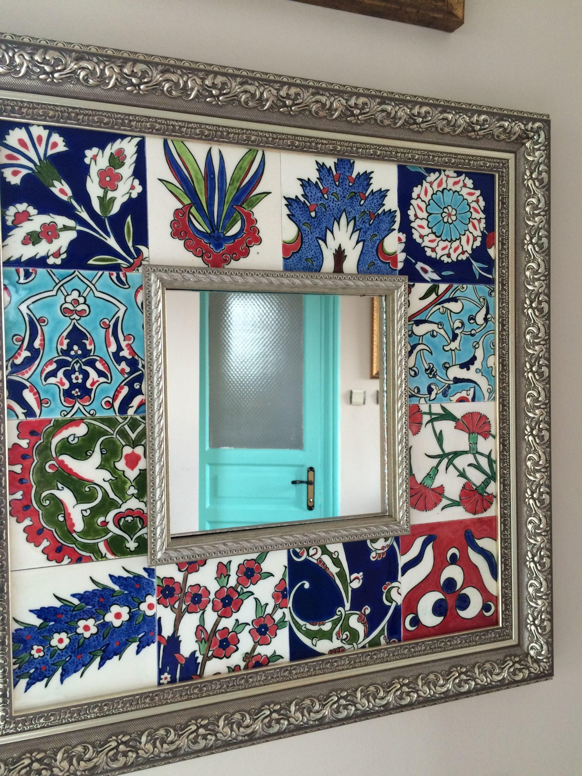 декор зеркала росписью