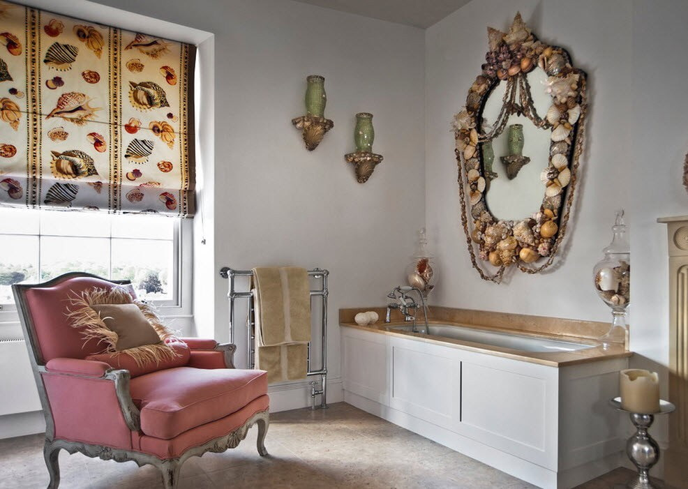 декор зеркала в ванной фото идеи