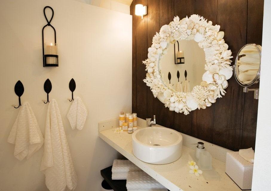 декор зеркала в ванной фото