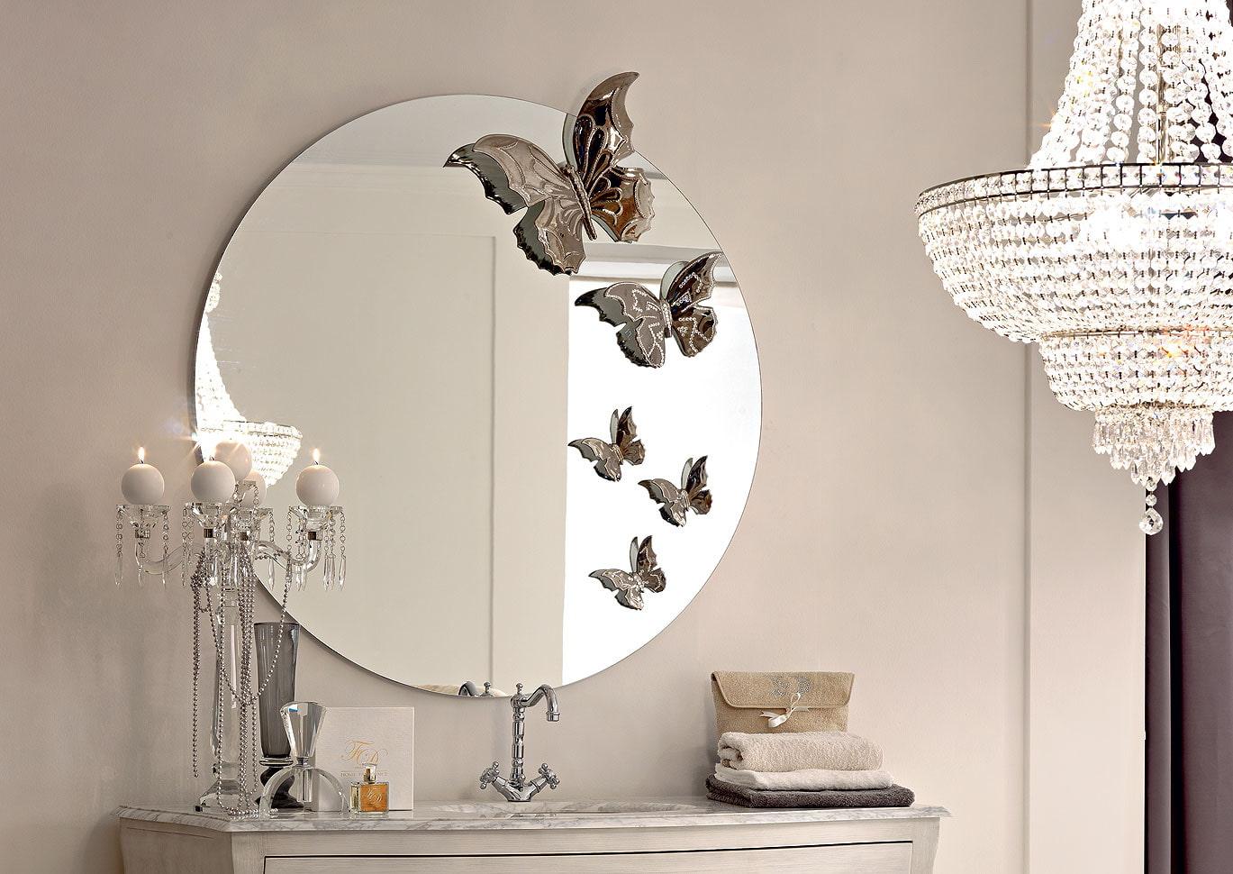 декор зеркала в ванной идеи фото