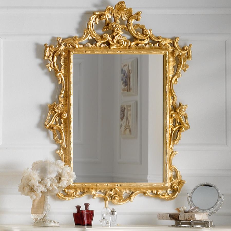 декор зеркала золотом