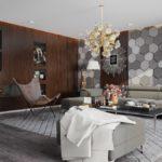 деревянные панели для отделки стен интерьер фото