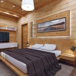 деревянные панели для отделки стен фото интерьера