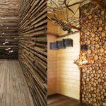 деревянные панели для отделки стен идеи интерьер
