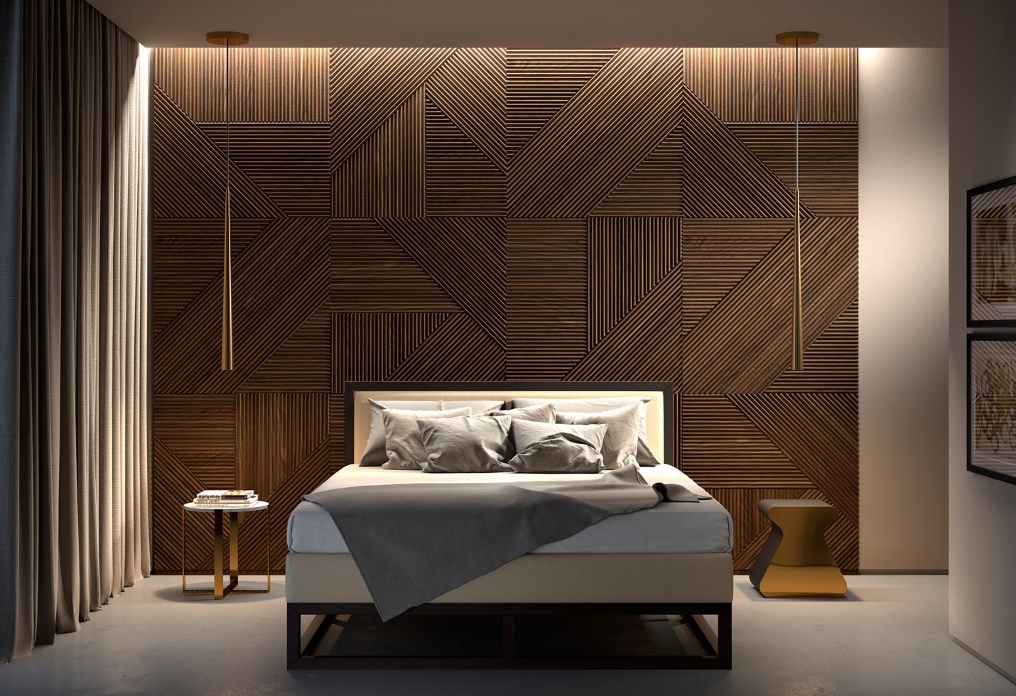 деревянные панели для стен 3д