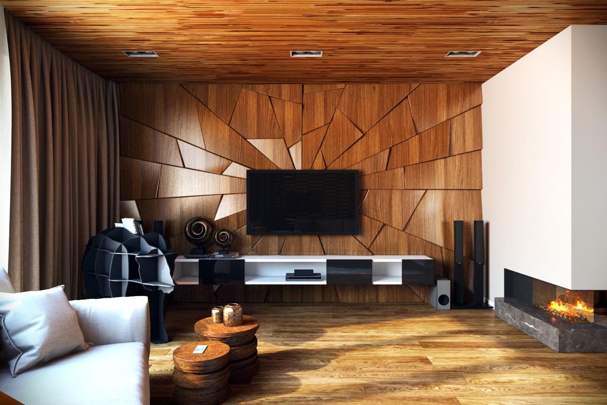 деревянные панели для стен фото дизайн