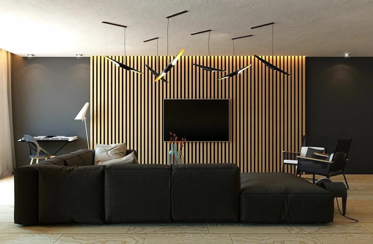деревянные панели для стен реечные