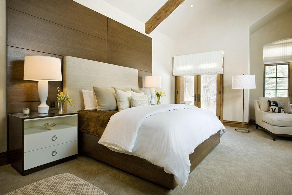 деревянные панели для стен в спальне