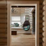 деревянный плинтус в частном доме фото оформление