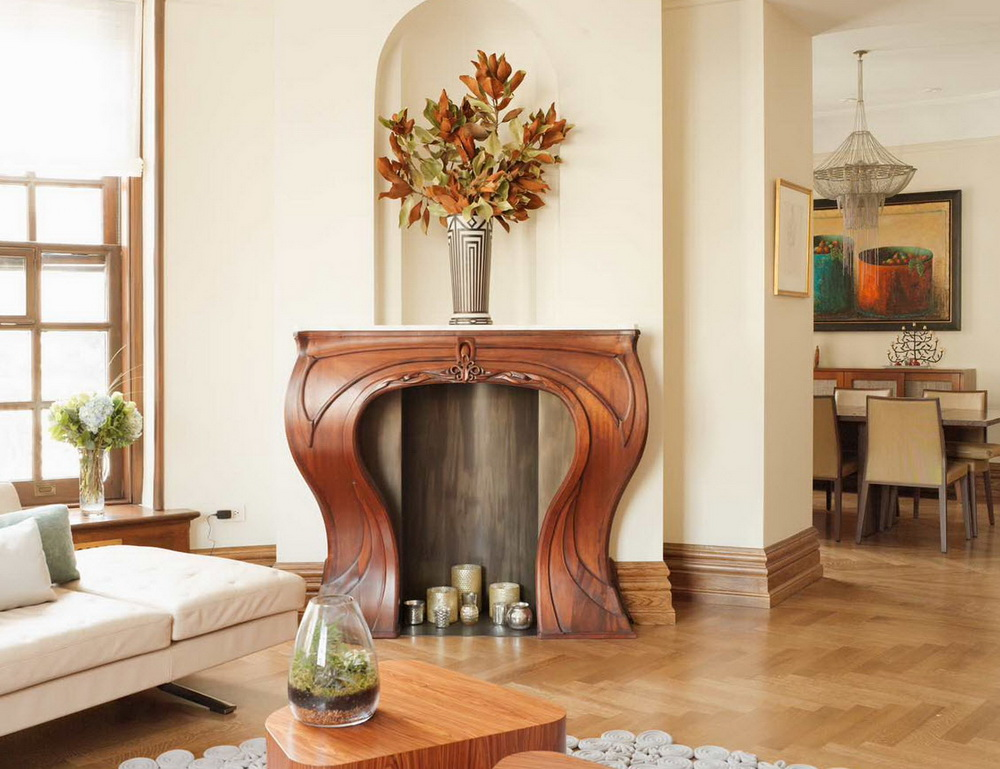деревянный плинтус в стиле модерн