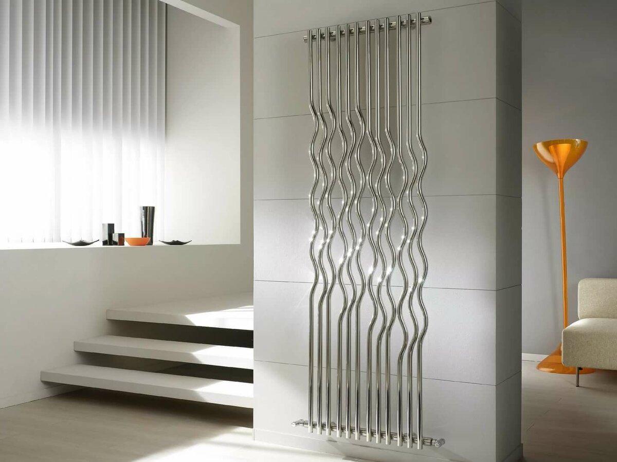 дизайнерский вертикальный радиатор отопления
