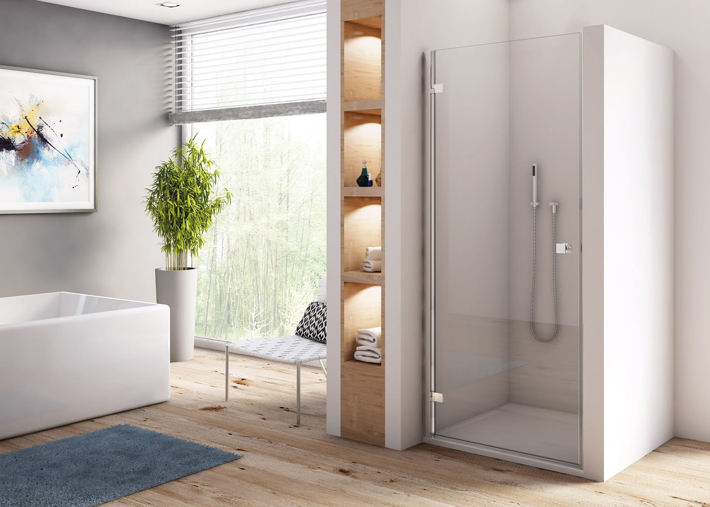 двери для душевой кабины дизайн идеи