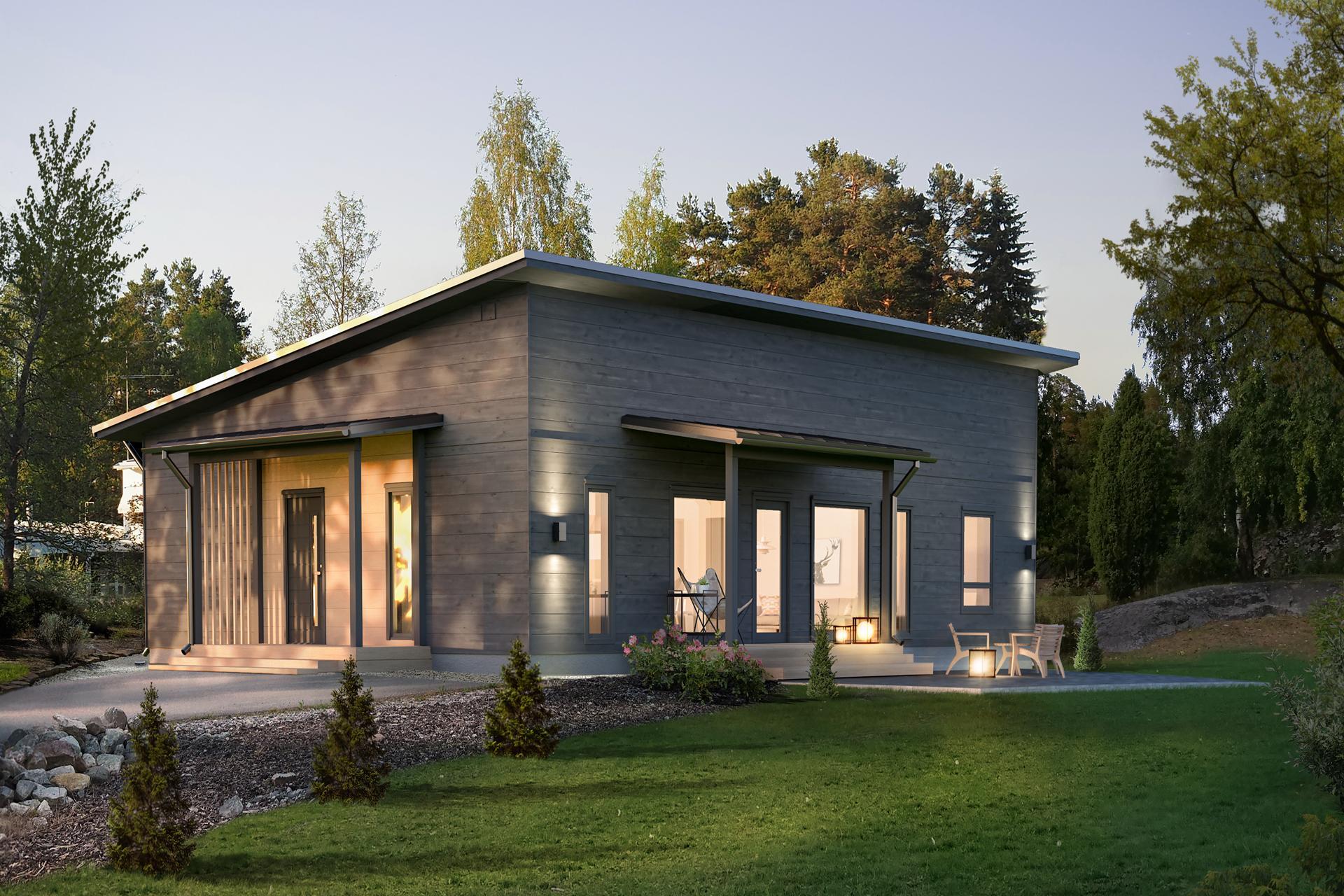 замечательная страна, фото финские одноэтажные домики вышло, что