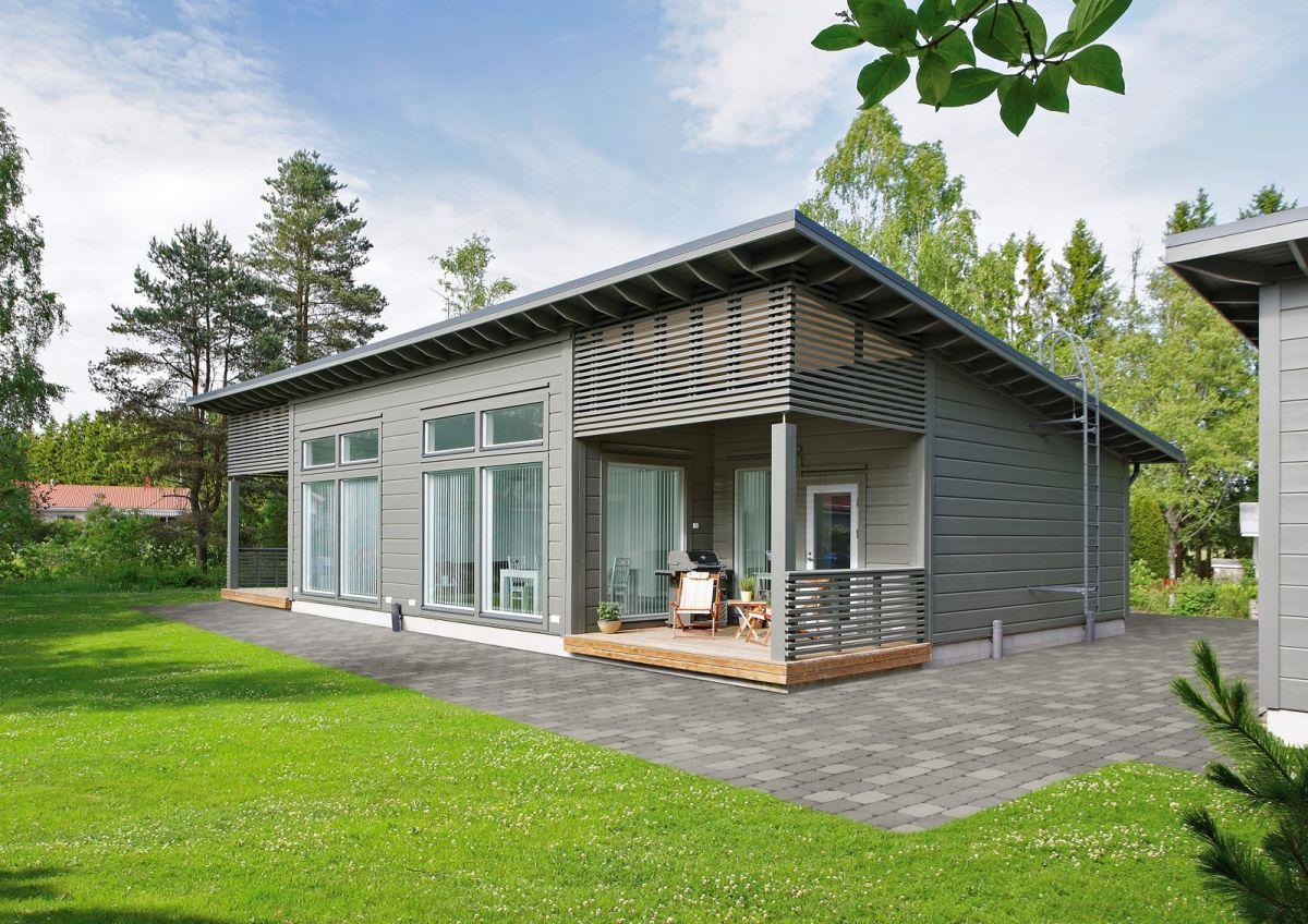 фото финские одноэтажные домики один момент весь